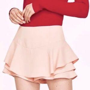 Cute Zara Light Pink Ruffle Skort